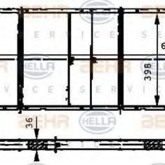 Radiator, racire motor RENAULT TRAFIC bus 2.5 D - HELLA 8MK 376 716-571 - Radiator racire LuK