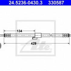 Furtun frana FORD TRANSIT bus 2.0 i - ATE 24.5236-0430.3, REINZ