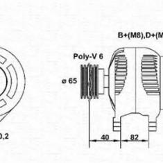 Generator / Alternator AUDI 500 2.3 E - MAGNETI MARELLI 943356515010 - Alternator auto