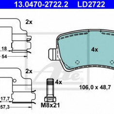 Placute frana REINZ FORD GALAXY 2.0 TDCi - ATE 13.0470-2722.2