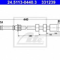 Furtun frana BMW 3 limuzina 320 d xDrive - ATE 24.5113-0440.3, REINZ