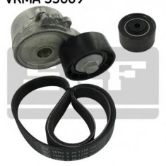 Set curea transmisie cu caneluri PEUGEOT 307 2.0 HDi 90 - SKF VKMA 33069 - Kit curea transmisie