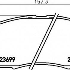Placute frana ATE NISSAN CAMIONES / FRONTIER 2.5 dCi 4WD - HELLA 8DB 355 013-141