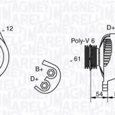 Generator / Alternator FIAT BRAVO I 1.9 TD 100 S - MAGNETI MARELLI 063321826010 - Alternator auto