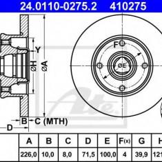 Disc frana VW GOLF Mk II 1.8 - ATE 24.0110-0275.2 - Discuri frana REINZ