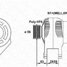 Generator / Alternator AUDI A3 1.9 TDI - MAGNETI MARELLI 943355059010 - Alternator auto
