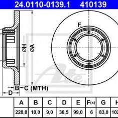 Disc frana RENAULT 4 combi 1.1 - ATE 24.0110-0139.1 - Discuri frana REINZ