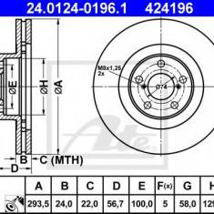 Disc frana SUBARU XV CROSSTREK 2.0 D - ATE 24.0124-0196.1 - Discuri frana REINZ
