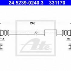 Furtun frana FIAT SCUDO caroserie 2.0 D Multijet - ATE 24.5239-0240.3, REINZ
