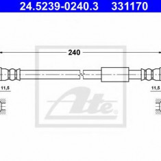 Furtun frana REINZ FIAT SCUDO caroserie 2.0 D Multijet - ATE 24.5239-0240.3