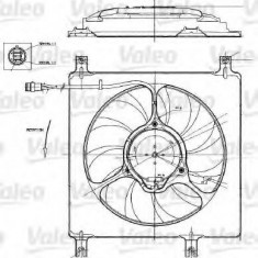 Motor electric, ventilator OPEL AGILA 1.0 12V - VALEO 698552 - Electroventilator auto