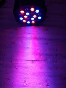 LED Par 18 led proiector  joc lumini DMX Flat Light RGB Lumini DJ