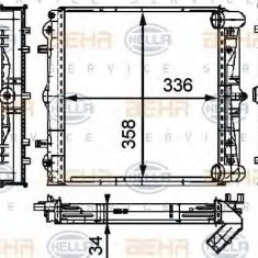 Radiator, racire motor PORSCHE BOXSTER 2.5 - HELLA 8MK 376 714-291 - Radiator racire LuK