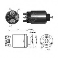 Solenoid, electromotor - ERA 227823 - Solenoid Auto