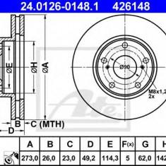 Disc frana TOYOTA BLADE 1.8 - ATE 24.0126-0148.1 - Discuri frana REINZ