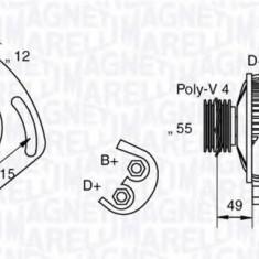 Generator / Alternator FIAT MAREA Weekend 1.6 100 16V - MAGNETI MARELLI 063321715010 - Alternator auto