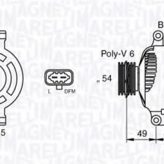 Generator / Alternator OPEL AGILA 1.3 CDTI - MAGNETI MARELLI 063377423010 - Alternator auto