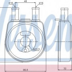 Radiator ulei, ulei motor RENAULT 19  1.7 - NISSENS 90704 - Radiator auto ulei