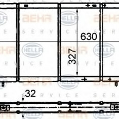 Radiator, racire motor RENAULT 25 2.0 - HELLA 8MK 376 716-491 - Radiator racire LuK