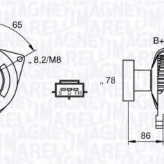 Generator / Alternator FORD FOCUS 2.0 16V - MAGNETI MARELLI 063377414010 - Alternator auto