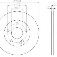 Disc frana MERCEDES-BENZ A-CLASS A 140 - TEXTAR 92091203 - Discuri frana