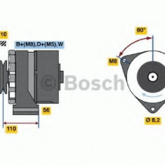 Generator / Alternator VW CITYGOLF 1.6 - BOSCH 0 986 034 240 - Alternator auto