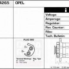 Generator / Alternator OPEL SIGNUM 1.9 CDTI - DELCO REMY DRA4265 - Alternator auto