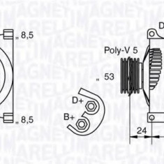 Generator / Alternator FIAT PUNTO 1.2 16V 80 - MAGNETI MARELLI 063377010010 - Alternator auto