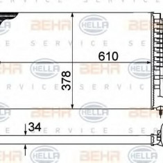 Radiator, racire motor CITROËN ZX 1.9 D - HELLA 8MK 376 707-021 - Radiator racire LuK