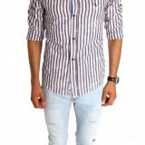Camasa tip Zara - camasa barbati - camasa slim - camasa fashion - cod 6679, Marime: S, M, L, XL, Culoare: Din imagine, Maneca lunga