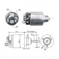 Solenoid, electromotor - ERA 227454 - Solenoid Auto