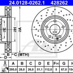 Disc frana MERCEDES-BENZ B-CLASS B 180 Turbo - ATE 24.0128-0262.1 - Discuri frana REINZ