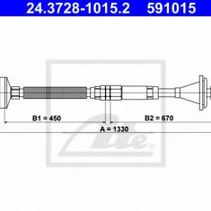 Cablu ambreiaj REINZ RENAULT ESPACE Mk II 2.1 TD - ATE 24.3728-1015.2