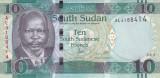 Bancnota Sudanul de Sud 10 Pounds 2015 - PNew UNC (culoare modificata)