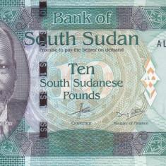 Bancnota Sudanul de Sud 10 Pounds 2015 - PNew UNC (culoare modificata) - bancnota africa