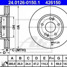Disc frana HYUNDAI ix20 1.4 - ATE 24.0126-0150.1 - Discuri frana REINZ