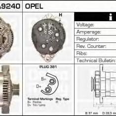 Generator / Alternator OPEL ASTRA F combi 1.6 i - DELCO REMY DRA9240 - Alternator auto