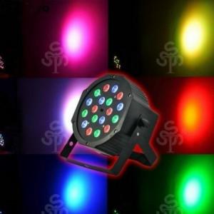 LED Par 18 led proiector  joc lumini DMX Flat Light RGB ventilator Lumini DJ