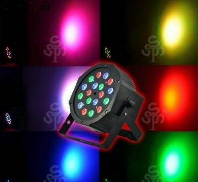 LED Par 18 led proiector  joc lumini DMX Flat Light RGB Lumini DJ foto