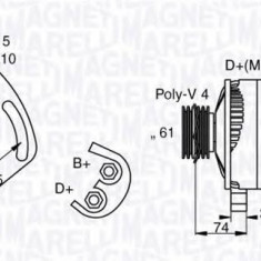 Generator / Alternator FIAT PALIO Weekend 1.2 - MAGNETI MARELLI 063321863010 - Alternator auto