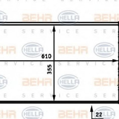 Radiator, racire motor PEUGEOT 405  1.6 - HELLA 8MK 376 717-331 - Radiator racire LuK