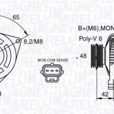 Generator / Alternator FORD FOCUS 1.8 16V - MAGNETI MARELLI 063377409010 - Alternator auto