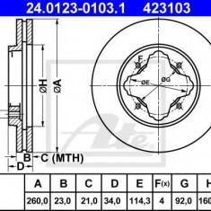 Disc frana ROVER 600 620 i - ATE 24.0123-0103.1 - Discuri frana REINZ