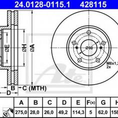 Disc frana TOYOTA SCEPTER 2.2 - ATE 24.0128-0115.1 - Discuri frana REINZ