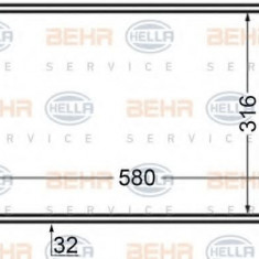 Radiator, racire motor FIAT PUNTO 1.9 JTD 80 - HELLA 8MK 376 704-641 - Radiator racire LuK