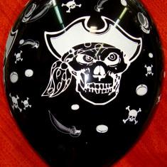 Balon 25 cm Party, evenimente, Pirati, set 6 bc, personalizare la cerere - Baloane copii