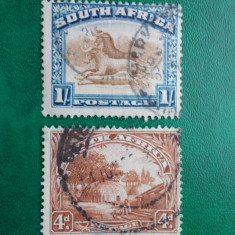 Africa de Sud 1927 colonii 6 Euro peisaje fauna stampilate