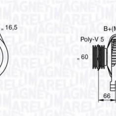 Generator / Alternator FIAT BRAVA 1.6 16V - MAGNETI MARELLI 063533250580 - Alternator auto