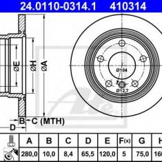 Disc frana BMW 1 116 i - ATE 24.0110-0314.1 - Discuri frana REINZ