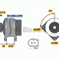 Generator / Alternator SKODA OCTAVIA 1.4 - BOSCH 0 986 041 920 - Alternator auto